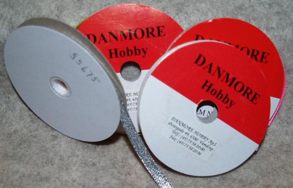 55675 Danmore Satinbånd 6mm sølv -0