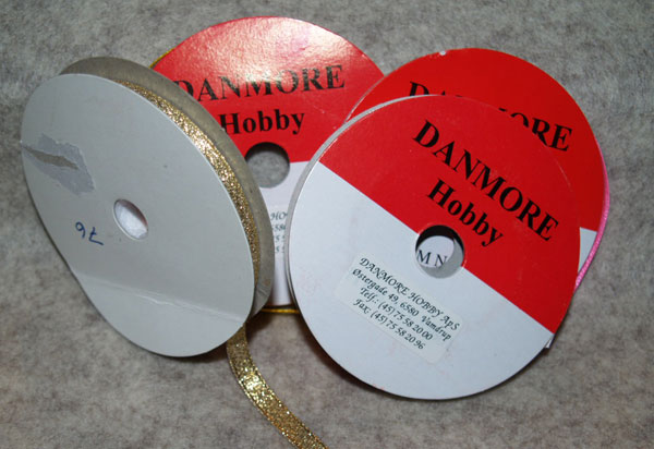 55676 Danmore Satinbånd 6mm Guld-0