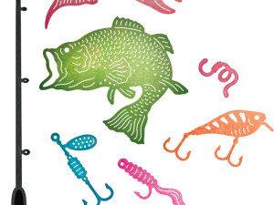 B648 Cheery Lynn Die Fishing Set-0
