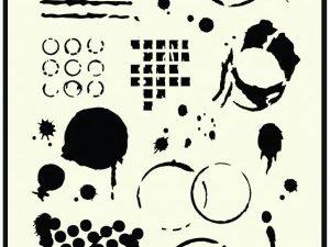 470.715.035 Dutch Doobadoo Mask Stencil Geometric Tiles-0