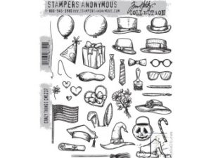 CMS237 Stampers Anonymous Tim Holtz Crazy Things Stamp Set-0