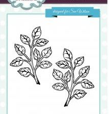 UMS662 Creative Expressions Sue Wilson Stempel Shaded Orange Blossom Leaves-0