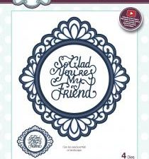 CED5420 Creative Expressions Sue Wilson Die Ornate Oval My Friend-0