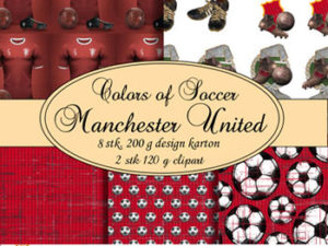 67968-1 Felicita Design papir ark Colours Of Soccer Manchester United-0