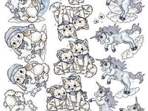 CD10586 Yvonne Design 3D 1 ark Magical Winter Dyrebørn-0