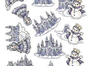 SB10074 Yvonne Design 3D 1 ark udstanset Magical Winter Eventyr-0