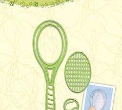 45.1482 Leane Creatief Die Cut/Emb Tennis Racket -0