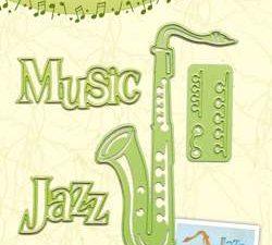 45.1505 Leane Creatief Die Cut/Emb Saxophone -0