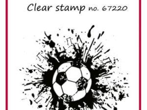 67220 Felicita Design Stempel fodbold med splat -0
