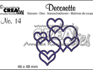CLDR14 CREAlies Die Decorette hjerter -0