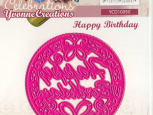 YCD10050 Yvonne Creations Die Celebrations happy birthsday -0