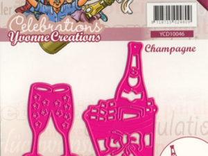 YCD10046 Yvonne Creations Die Celebrations champange på køl -0