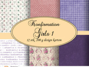 67965-1 Felicita Design Papir ark konfirmation Girls 1-0