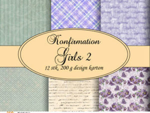 67966-1 Felicita Design papir ark konfirmation Girls 2-0