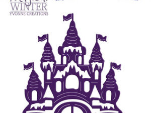 YCD10042 Yvonne Creations Die Magical Winter Castle-0
