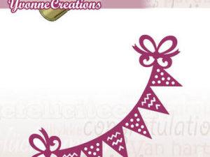 YCD10049 Yvonne Creations Die Celebrations Flagranke-0