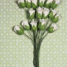 RB2238 Marianne Design Flower Rose Bud White -0