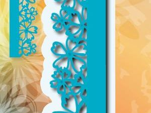 6002/0315 JOY Die Cut/emb Flower Border-0