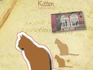 6002/0522 JOY Die Cut/emb Kitten-0