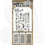 THMST007 Tim Holtz Stampers Anonymous Stencil Mini Stencil Set #7-0