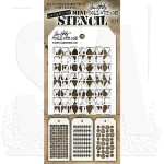 THMST009 Tim Holtz Stampers Anonymous Stencil Mini Stencil Set #9-0