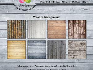 PP0061 Dixi Craft Papirspakning Wooden Background -0