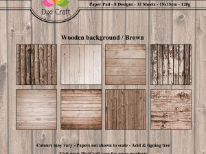 PP0062 Dixi Craft Papirspakning Wooden Background Brown -0
