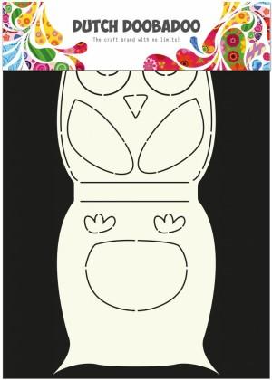 670584 Dutch Doobadoo Card Art Stencil Owl-0