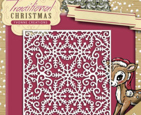 YCD10059 Yvonne Creations Die Traditional Christmas Snowflake frame-0