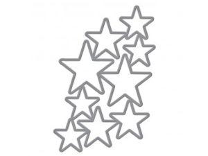 S5-244 Spellbinders Die Designer Serie Cascading Stars-0