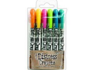 TDBK47902 Ranger Tim Holtz Distress Crayons sæt 1, 6 stk-0