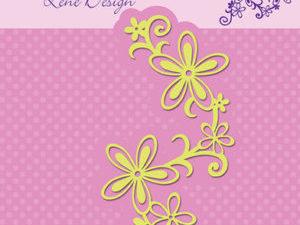 SDL028 Nellie Snellen Die Lene Design Shape Die Swirl & Flowers-0