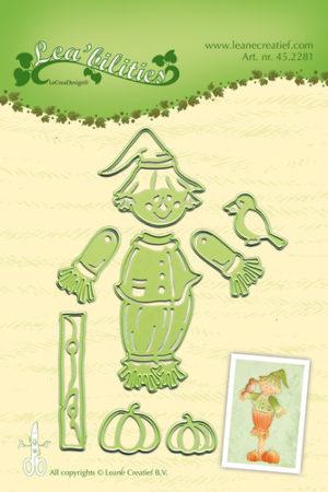 45.2281 Leane Creatief Die Cut/emb Scarecrow-0