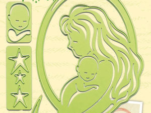 45.2311 Leane Creatief Die Cut/emb Mother & Child-0