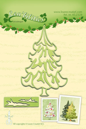 45.2328 Leane Creatief Die Cut/emb Christmas Tree-0