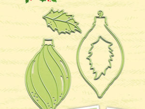 45.2342 Leane Creatief Die Cut/emb Paper Patch – Christmas Ornament-0