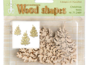 71.2489 Leane Creatief Wood Shapes Christmas Trees-0