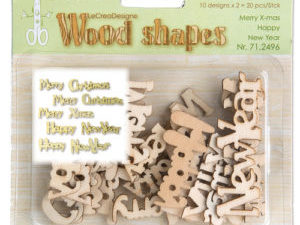 71.2496 Leane Creatief Wood Shapes Merry Christmas & Happy New Year-0