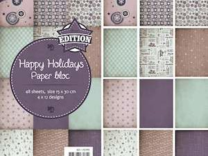 6011/0390 JOY Papirsblok 15x30 Happy Holidays-0