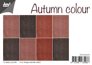6011/0506 JOY Papirsblok A4 Autumn Colour-0