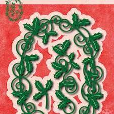 6002/0576 JOY Die Cut/emb Happy Holidays Holly Leaves-0