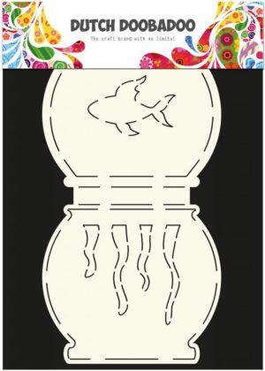 470.713.504 Dutch Doobadoo Card Art Stencil Fish Bowl-0