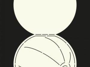 470.713.600 Dutch Doobadoo Card Art Stencil Beach Ball-0
