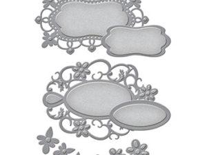S4-652 Spellbinders Die Designer Series Botantical Bliss Floral tags-0