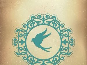 VIND042 Nellie Snellen Die Vintasia Romantic Birds Swallow-0