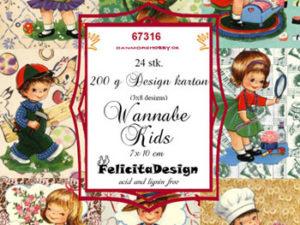 67316 Felicita Design Toppers 7 x 10 cm Wannebe kids -0