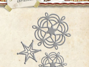 YCD10073 Yvonne Creations Die Holly Jolly Christmas Snowflake and Star-0