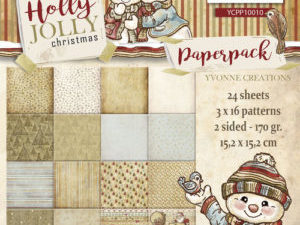 YCPP10010 Yvonne Design Papirblok Holly Jolly Christmas-0