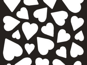 01066 Creative Expressions Stencil That Special Touch Of Mica Mask Stencil Heart Confetti-0