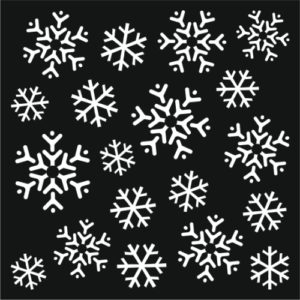 05125 Creative Expressions Stencil That Special Touch Of Mica Mask Stencil Snow Flury-0
